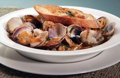 Nick stellino's Clams with Sausage & Fettunta-another awesome recipe from Nick Stellino