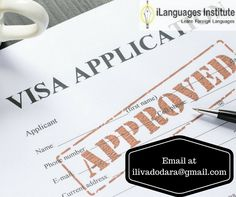 We consult your requirements for multiple types of visa processing for various countries globally. Email us at ilivadodara@gmail.com #Foreignlanguage #Translation #Ilanguage #visaconsultancy #Languageexperts #Translators #vadodara #visaprocess