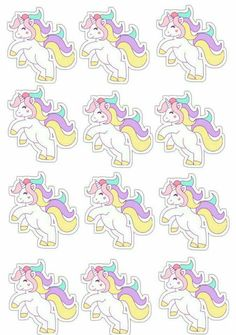 Unicorn Printables, Baby Shower Printables, Unicorn Birthday Parties, Baby Birthday, Summer Activities For Kids, Diy For Kids, Printable Stickers, Planner Stickers, Old Paper Background