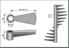 6-modelos de escadas caracol #Modelosdecasas Spiral Staircase Plan, Spiral Stairs Design, Staircase Handrail, Staircase Design, Stairs Architecture, Architecture Details, Building Stairs, Steel Stairs, Stair Detail