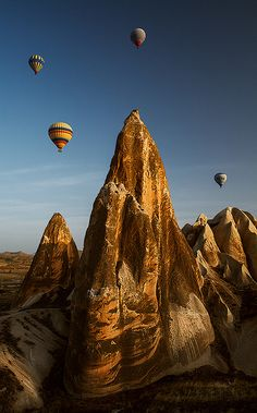 Cappadocia, Turkey. - been here, went on a hot air balloon ride, such a great experience.