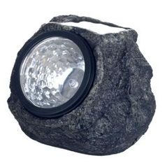 Pure Garden, Solar Powered LED Grey Rock Landscaping Light (4-Pack), 50-21 at The Home Depot - Tablet