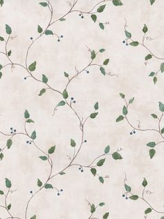"Vinyl wallpaper. 20.5"" x 33' double roll. $44. washable. (free shipping over $90.) So cute, and with those tiny blue berries! The branches are almost the color of our cabinet exteriors, which would be a nice bit. For garage?"