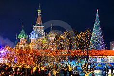 Christmas Evening In Red Square Royalty Free Stock Photos - Image ...