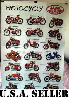 Jawa Motorcycles Poster Motocykly 21 Bikes Czech | eBay basement decor?