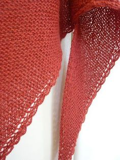 a tomato shawl Crochet Wool, Crochet Shawl, Crochet Scarves, Knitted Poncho, Knitted Bags, Hand Knit Scarf, Knitted Shawls, Knitting For Charity, Point Mousse