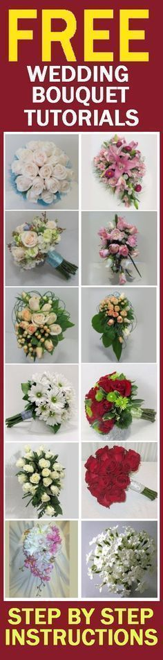 How to Make Wedding Bouquets - Easy Wedding Tutorials Learn how to make bridal bouquets, wedding corsages, groom boutonnieres, church decorations and reception centerpieces. #howtomakeweddingcandles
