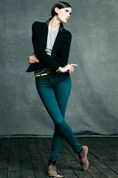 Belt your blues ... with a pop of yellow! #denim #jeans #impulse #fall #macys BUY NOW!