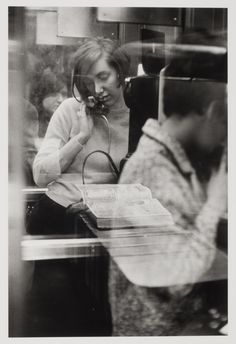 Woman in a phone booth. New York, 1967 (Danny Lyon]