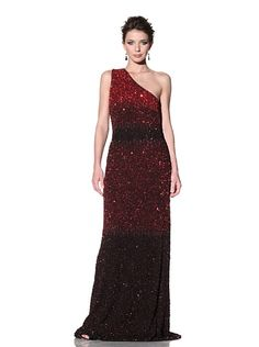 Badgley Mischka Couture $745  One-Shoulder Sequined Gown    I need to trade my life for a chance to wear something this fab