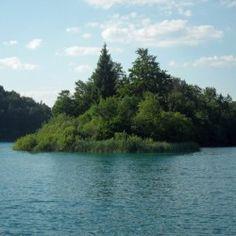 Lake Plitvice Lakes National Park, Brushed Metal, Island, Floating Frame, Stretched Canvas Prints, Canvas Artwork, Wood Print, Custom Framing, Waterfall