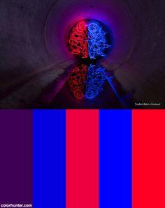 Red + Blue = Purple Color Scheme