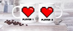 Salty and Lit Player 1 and Player 2 Couples Coffee Mug
