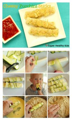 Cheesy Zucchini Sticks Recipe - Even if you don't grow zucchini, it's such a great price right now!! Buy a bunch and try these cheesy sticks. http://www.superhealthykids.com/cheesy-zucchini-sticks/