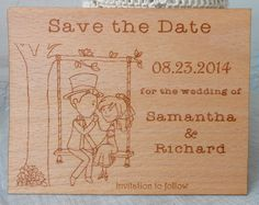 Wooden Save the Date  Rustic Wedding Save by CorkCountryCottage, $100.00