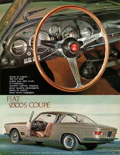 Fiat 2300S Coupé - this is so beautiful