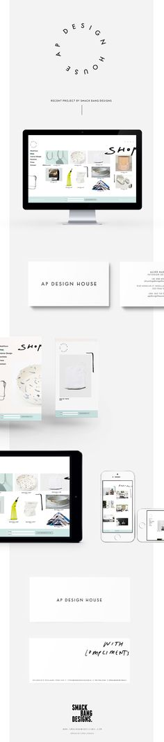 AP Design House branding by Smack Bang Designs #Branding #Website #BusinessCards #Logotype #Stationery