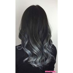 Gorgeous Gunmetal Gray Hair ❤ liked on Polyvore featuring beauty products, haircare and hair