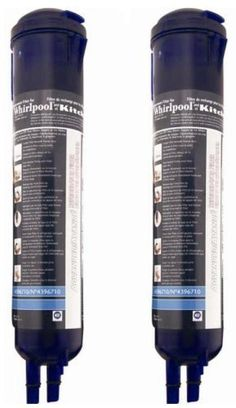 Whirlpool 4396710P KitchenAid PUR Push Button Cyst-Reducing, Side-by-Side Refrigerator Water Filter, 2-Pack with Mini Tool Box (fs) by Whirlpool. $204.20. This 2-pack premium push-button refrigerator water filter is used in Whirlpool and KitchenAid side-by-side refrigerators with filter access in the base grille. Simply press the release button to remove and replace the refrigerator water filter. While retaining beneficial fluoride, this NSF-certified refrigera...