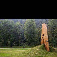 Giant peg installation piece. Fantastic!