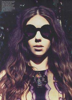 'Girls' actress Zosia Mamet wearing Wildfox 'Twiggy' sunglasses in ES Magazine's main fashion shoot #wildfox - Somebody GET me these sunglasses!!
