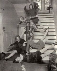 I feel like this is an excellent depiction of me & friends (and why we should never be unleashed in public). Circa 1920s, found by Retronaut