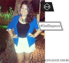 Blazer Elegance Plus Size. Coloque em suas fotos #UseElegance