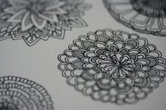 floral line drawing via jennifer judd-mcgee #doodles