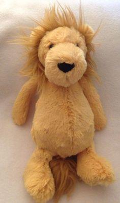 Jellycat Bashful Lion Plush Medium London UK Floppy Soft Toy Stuffed Yellow #jellycat