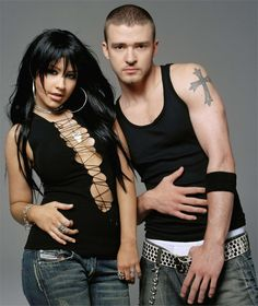 Christina Aguilera and Justin TimberlaKE