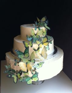 Another cascading butterfly wedding cake. Beautiful!