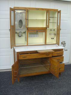 Vintage Antique Oak Hoosier Type Napanee Cabinet Free Delivery to 250 MI | eBay