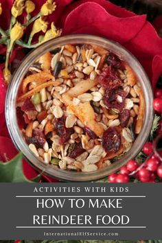The perfect activity for your kids this Christmas. Reindeer food ready for Christmas Eve. Get the recipe here... Reindeer Cookies, Reindeer Food, Black Sunflower Seeds, Christmas Eve, Christmas Crafts, Trail Mix Recipes, How To Make Glitter, Edible Glitter, Shaped Cookie