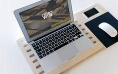 GUTAV Wooden Mobile Laptop Stand by gutav on Etsy