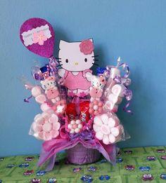 Lorraine's handmade: centro de mesa hello kitty, angry birds y minion