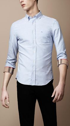 Button-Down Cotton Shirt | Burberry
