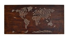 String Art is hip - again!  This world map is pretty cool.  I just may have to do another string art project - haven't done one since the 70's.