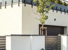 Daszki House Fence Design, Main Gate, Modern Fence, Backyard Fences, Facade, Outdoor Structures, Wall, Home Decor, Home Entrances