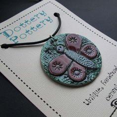 Butterfly pendant necklace ceramics pottery clay   Pottery   Popular Crafts   Craft Juice
