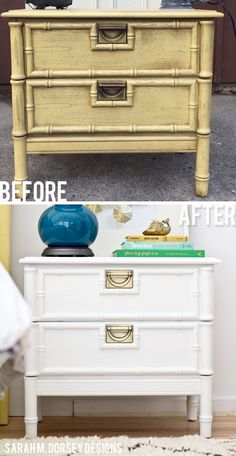 sarah m. dorsey designs: Faux Bamboo Nightstand | Before + After