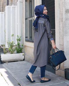 #fashion #modest #hijab Hayırlı akşamlar kızlaaarr✨ Etaminin kıyafetle birleşince daha da güzelleştiğinin kanıtlarından biri daha Etamin detayları @gestueldesign ile severiz  Gömlek @gestueldesign  @zamanebeyfendisi