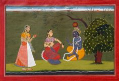 BasohliI India ca, 1730 Radha and Krishna in Discussion. The Government Museum and Art Gallery Chandigarh Mughal Paintings, Indian Paintings, Indian Folk Art, Indian Artist, Textiles, Chor, Art And Architecture, Indiana, Art Gallery
