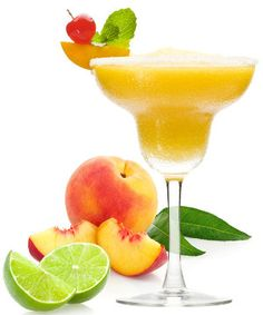 Peach Margarita cocktail.Fresh peach juice and aroma of peach schnapps combine to create a full-flavored temptation.