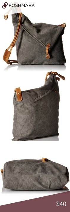 Grey Canvas Crossbody Messenger Shouder Tote Item Features  Pure cotton canvas handbag  Unique design which could be used as a purse, cross body handbag, messenger bag, school bag ect.  Well crafted and high quality  An adjustable long strap to allow it being carried over your shoulder or hand  Zipper closure with several small inside pockets for the storage of phone, wallet ect.   Style: pure cotton canvas handbag for both men and women  Material: pure cotton canvas  Size: height 15.4/12.2…