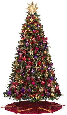 Stunning Christmas Tree Decorating Ideas | Purple christmas tree ...