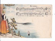 VANHA Postikortti Laulu Minä Seison Kansallispuku ym 1905 - Huuto.net