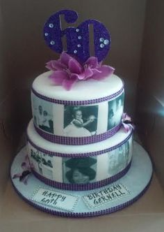 Awesome Photo of 2 Tier Birthday Cakes 2 Tier Birthday Cakes 2 Tier Bling With Photos Birthday Cake Cakecentral 2 Tier Birthday Cakes, Birthday Cake With Photo, Beautiful Birthday Cakes, Mom Birthday, 2 Tier Cake, Tiered Cakes, Bling Cakes, Pinterest Cake, Bakery Cakes