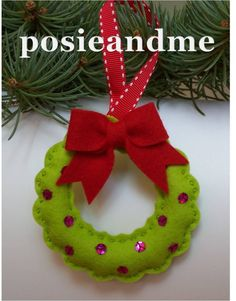 felt christmas tree ornaments | make handmade, crochet, craft