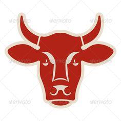 Head of a Cow  #GraphicRiver