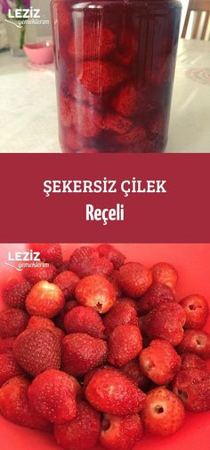 Şekersiz Çilek Reçeli Mamma Mia, Sugar Free, Strawberry, Food And Drink, Gluten Free, Fruit, Drinks, Cooking, Recipes